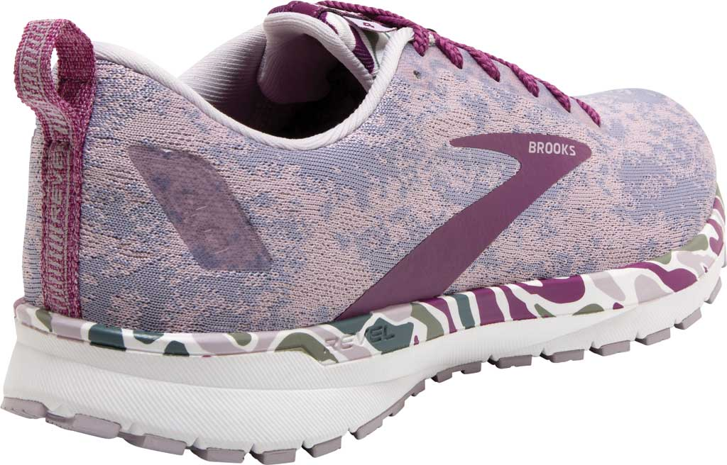 Women's Brooks Revel 4 Running Shoe, White/Wood Violet/Iris, large, image 4