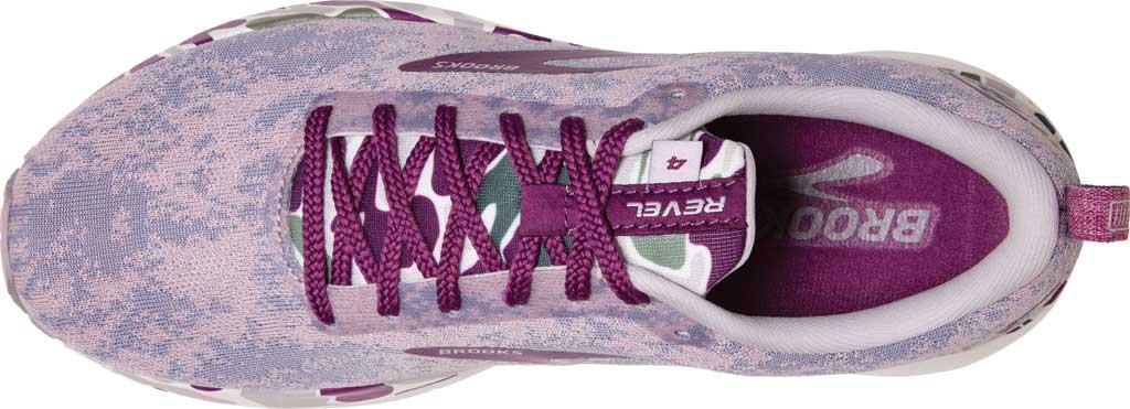 Women's Brooks Revel 4 Running Shoe, White/Wood Violet/Iris, large, image 5