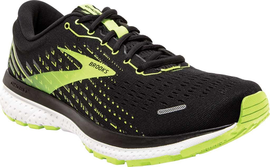 Men's Brooks Ghost 13 Running Shoe, Black/Nightlife/White, large, image 1