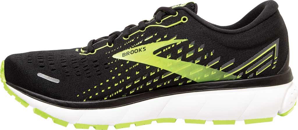Men's Brooks Ghost 13 Running Shoe, Black/Nightlife/White, large, image 3