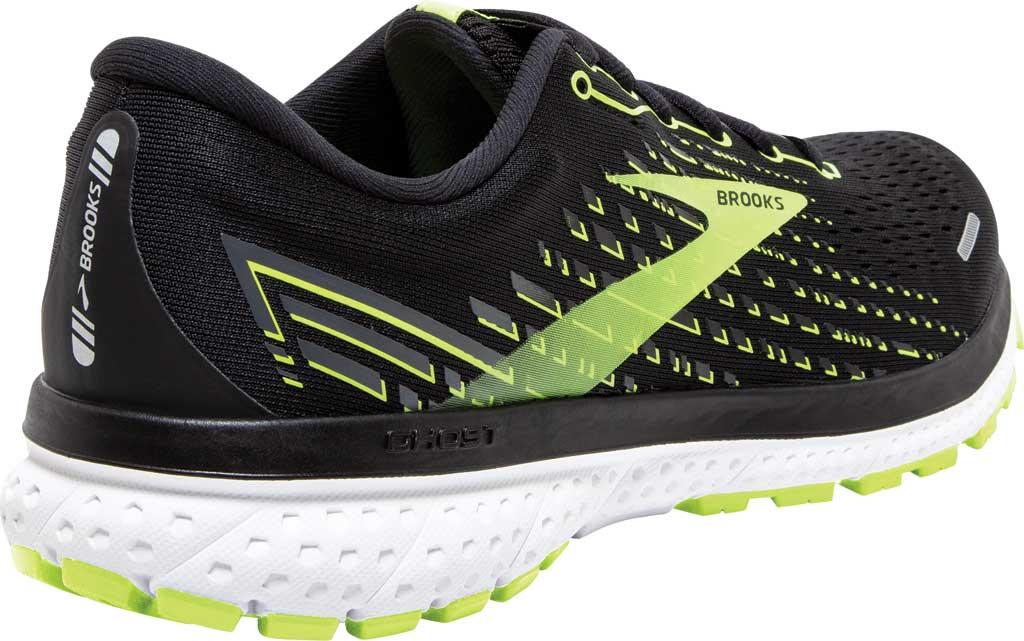 Men's Brooks Ghost 13 Running Shoe, Black/Nightlife/White, large, image 4