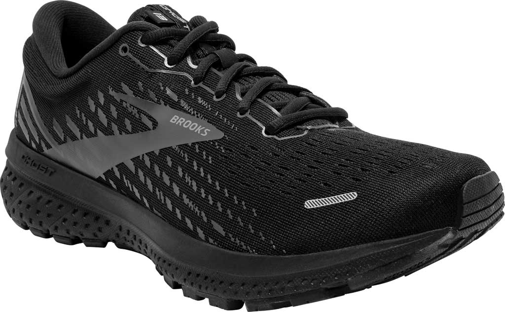 Men's Brooks Ghost 13 Running Shoe, Black/Black, large, image 1