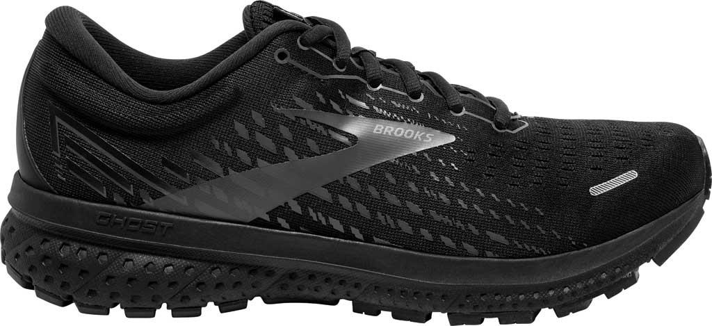 Men's Brooks Ghost 13 Running Shoe, Black/Black, large, image 2