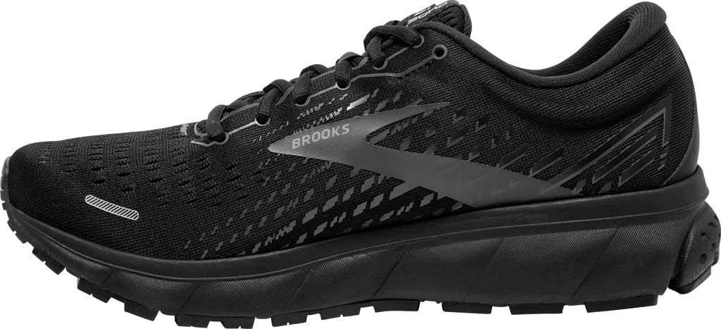 Men's Brooks Ghost 13 Running Shoe, Black/Black, large, image 3