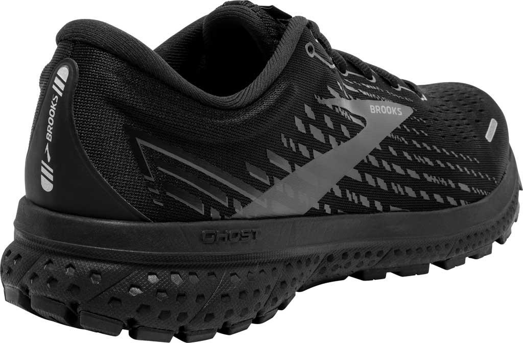 Men's Brooks Ghost 13 Running Shoe, Black/Black, large, image 4