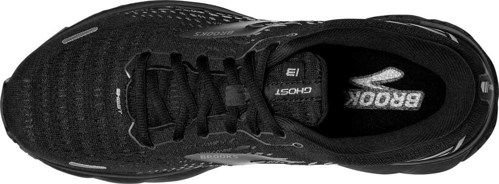 Men's Brooks Ghost 13 Running Shoe, Black/Black, large, image 5