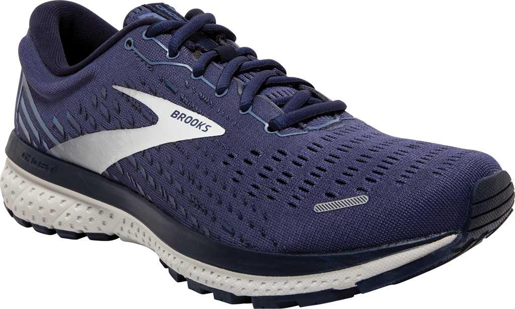 Men's Brooks Ghost 13 Running Shoe, Deep Cobalt/Grey/Navy, large, image 1