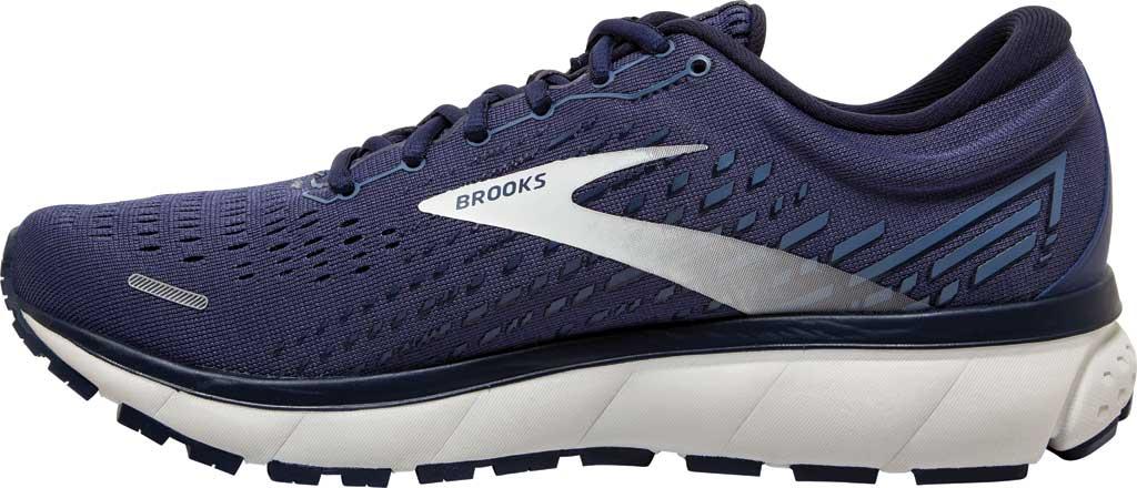 Men's Brooks Ghost 13 Running Shoe, Deep Cobalt/Grey/Navy, large, image 3