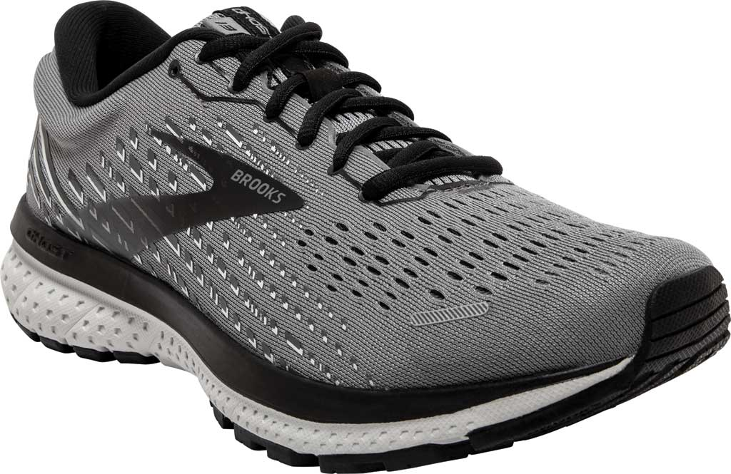 Men's Brooks Ghost 13 Running Shoe, Primer Grey/Pearl/Black, large, image 1
