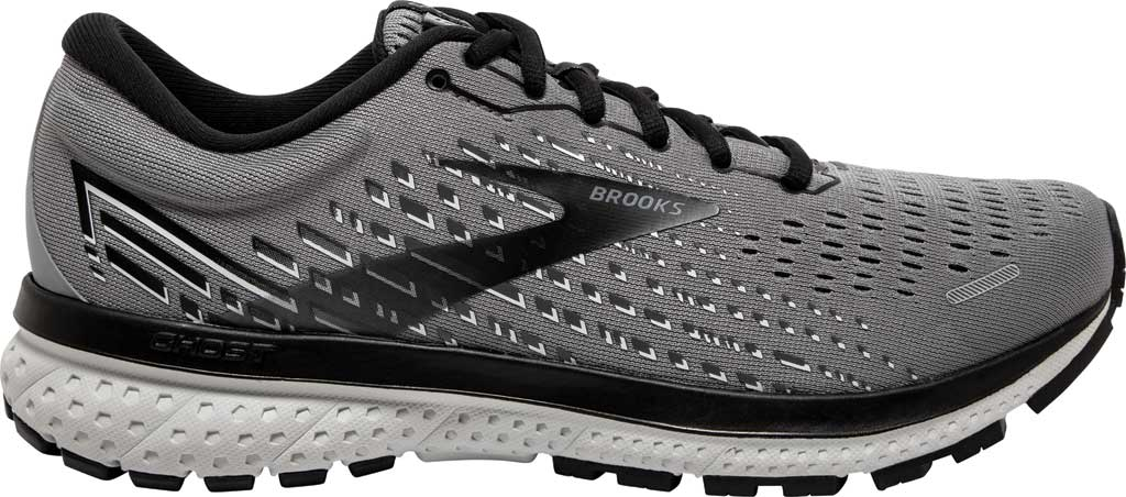 Men's Brooks Ghost 13 Running Shoe, Primer Grey/Pearl/Black, large, image 2