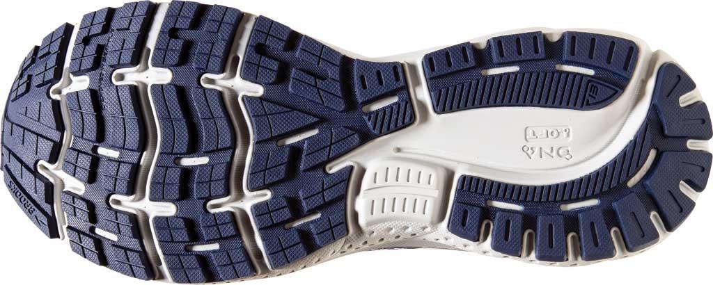Men's Brooks Ghost 13 Running Shoe, White/Grey/Deep Cobalt, large, image 6
