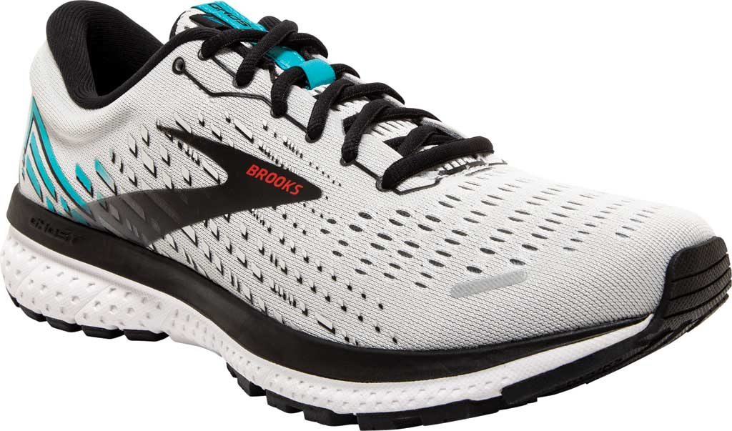 Men's Brooks Ghost 13 Running Shoe, Grey/Black/Capri, large, image 1