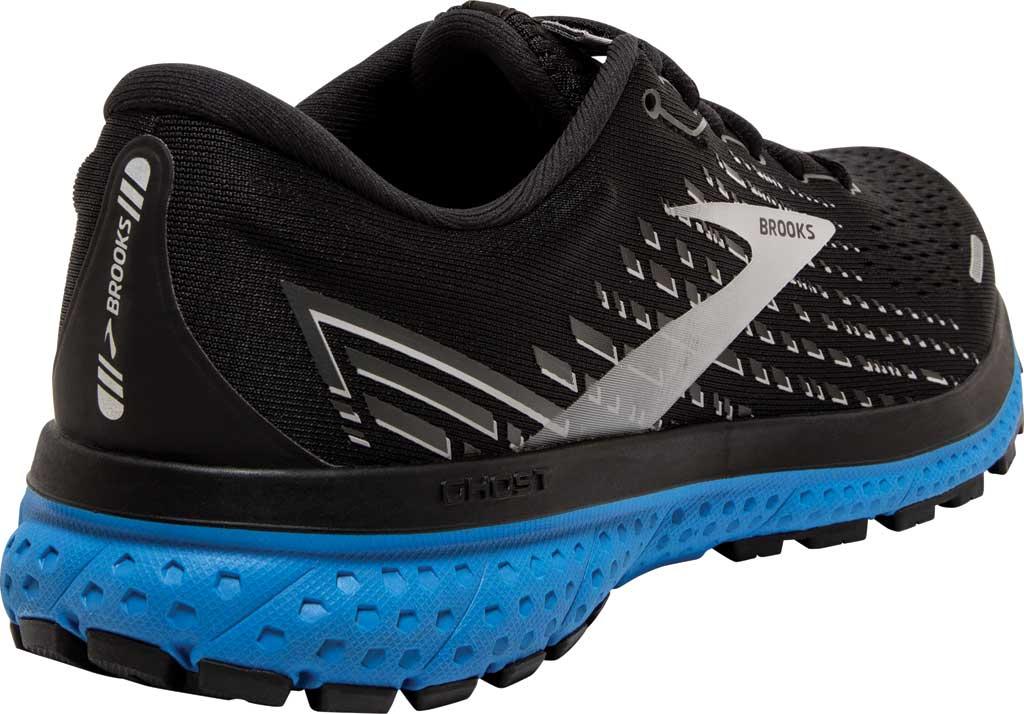 Men's Brooks Ghost 13 Running Shoe, Black/Grey/Blue, large, image 4