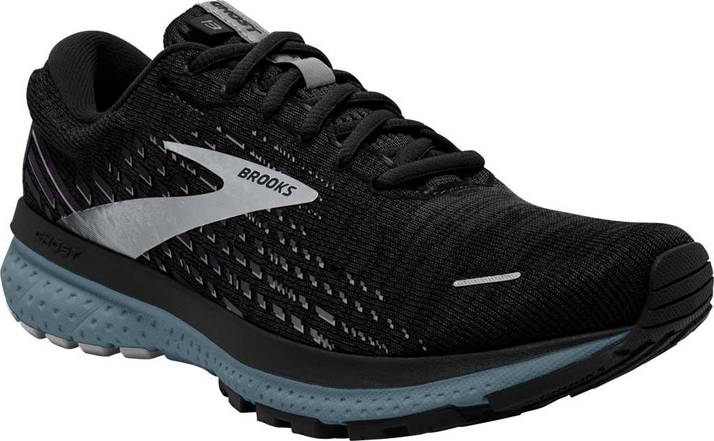 Men's Brooks Ghost 13 Running Shoe, Black/Grey/Stormy, large, image 1