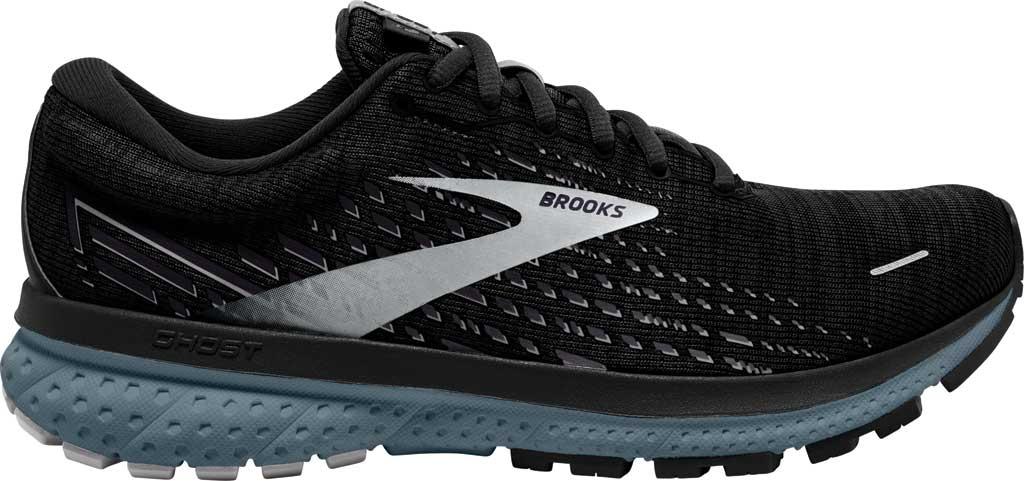 Men's Brooks Ghost 13 Running Shoe, Black/Grey/Stormy, large, image 2