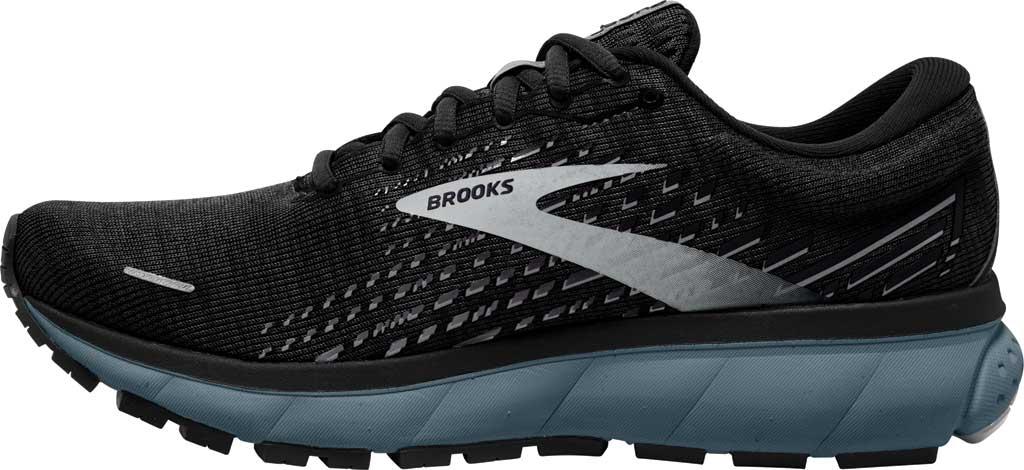 Men's Brooks Ghost 13 Running Shoe, Black/Grey/Stormy, large, image 3