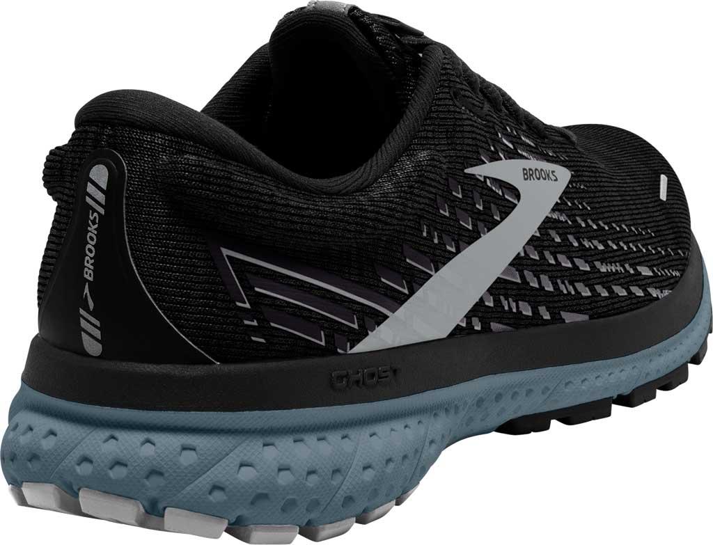 Men's Brooks Ghost 13 Running Shoe, Black/Grey/Stormy, large, image 4