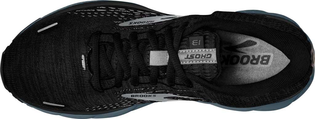 Men's Brooks Ghost 13 Running Shoe, Black/Grey/Stormy, large, image 5
