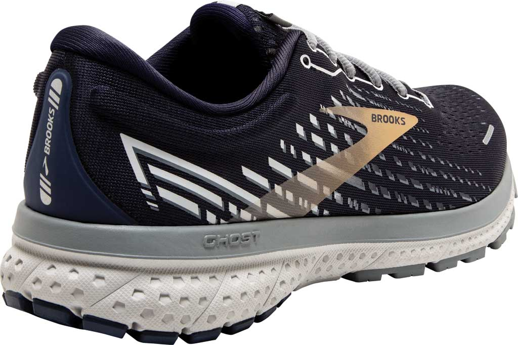 Men's Brooks Ghost 13 Running Shoe, Peacoat/Grey/Gold, large, image 4