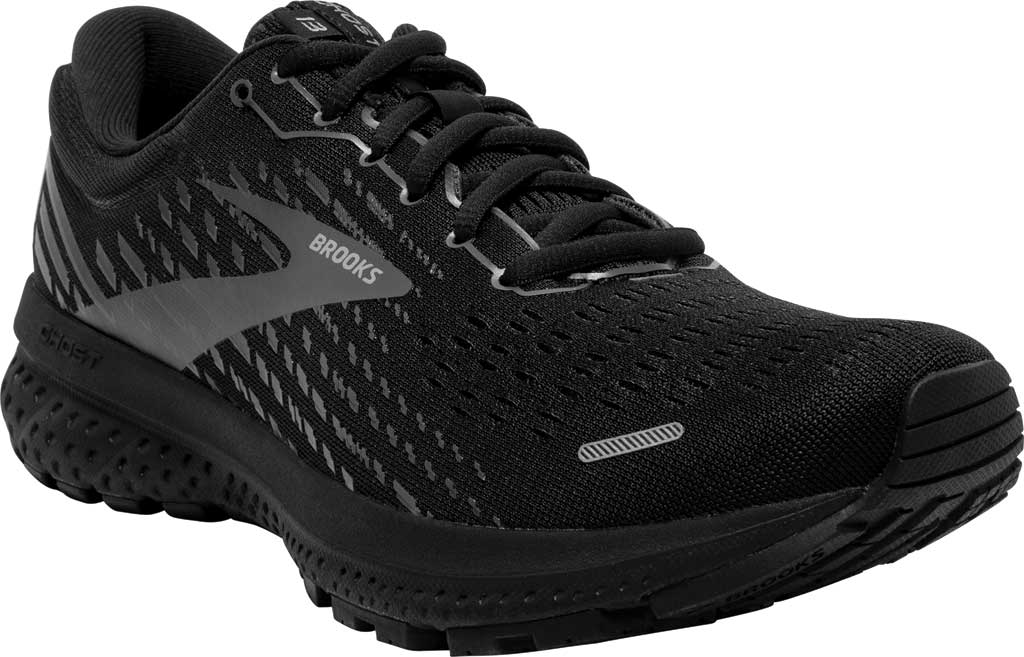 Women's Brooks Ghost 13 Running Shoe, Black/Black, large, image 1