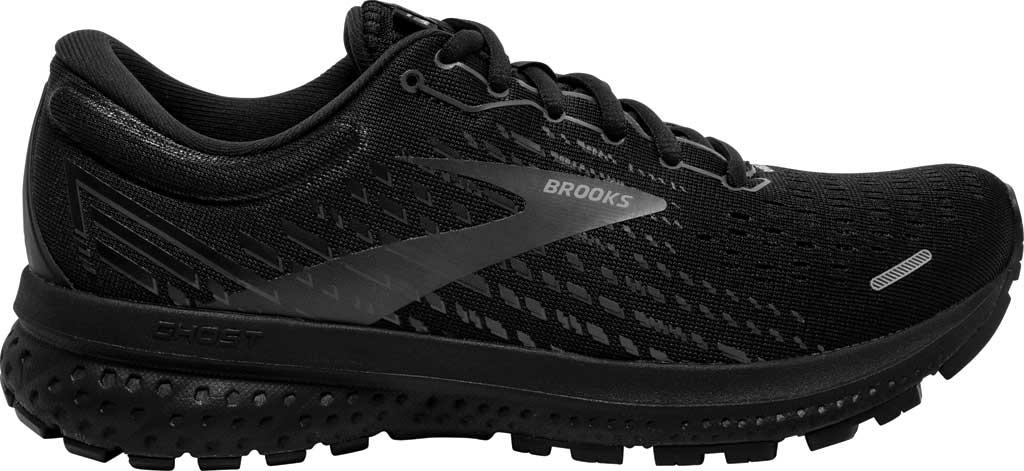 Women's Brooks Ghost 13 Running Shoe, Black/Black, large, image 2