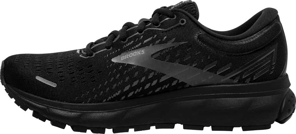 Women's Brooks Ghost 13 Running Shoe, Black/Black, large, image 3