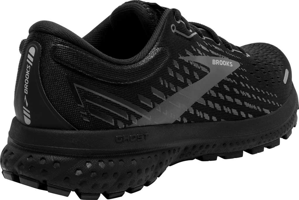 Women's Brooks Ghost 13 Running Shoe, Black/Black, large, image 4