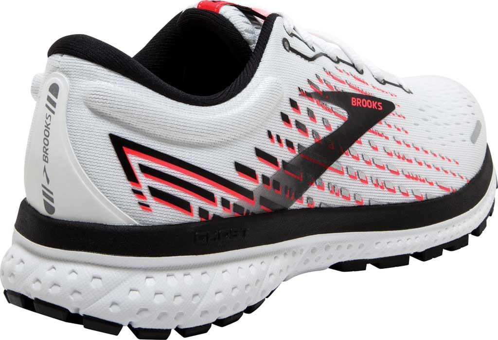 Women's Brooks Ghost 13 Running Shoe, White/Pink/Black, large, image 4