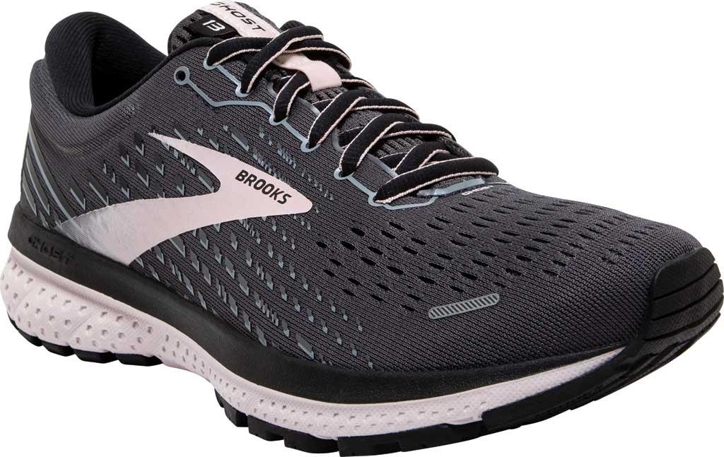 Women's Brooks Ghost 13 Running Shoe, Black/Pearl/Hushed Violet, large, image 1