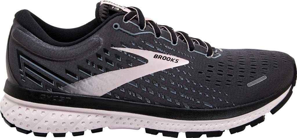 Women's Brooks Ghost 13 Running Shoe, Black/Pearl/Hushed Violet, large, image 2