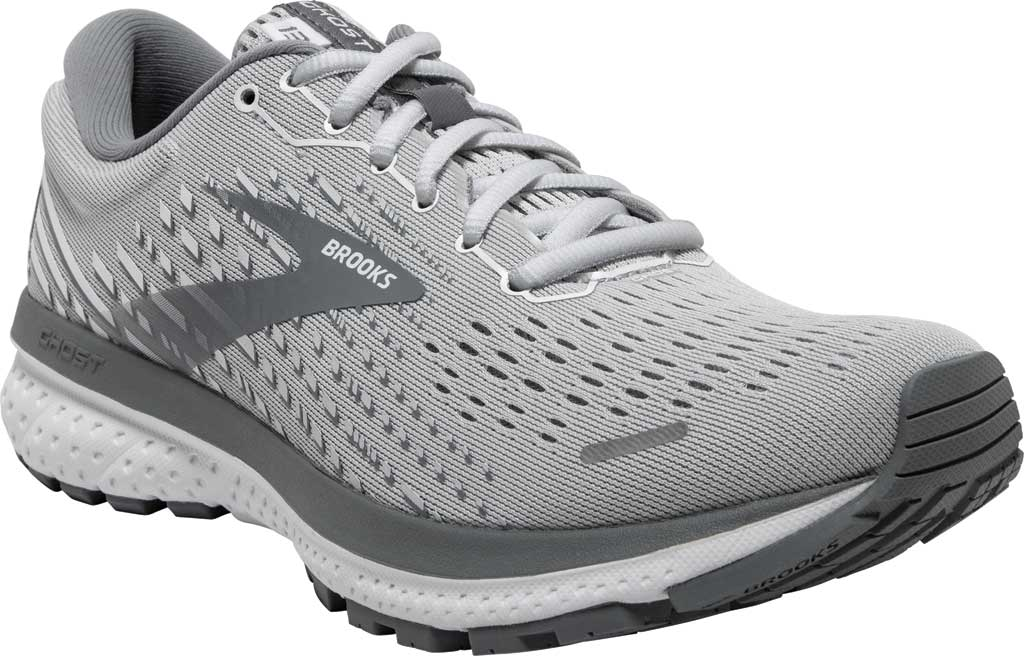 Women's Brooks Ghost 13 Running Shoe, Alloy/Oyster/White, large, image 1