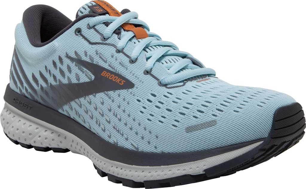 Women's Brooks Ghost 13 Running Shoe, Light Blue/Blackened Pearl/White, large, image 1