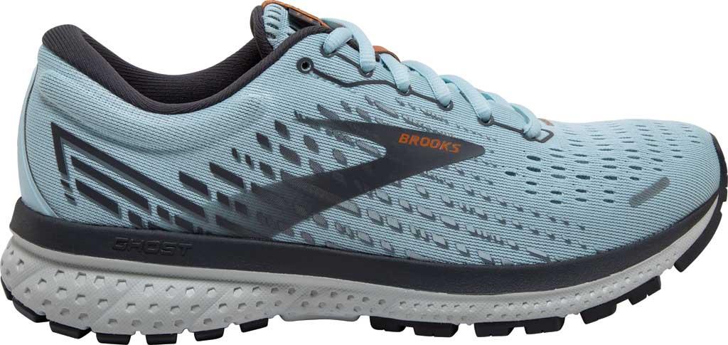 Women's Brooks Ghost 13 Running Shoe, Light Blue/Blackened Pearl/White, large, image 2