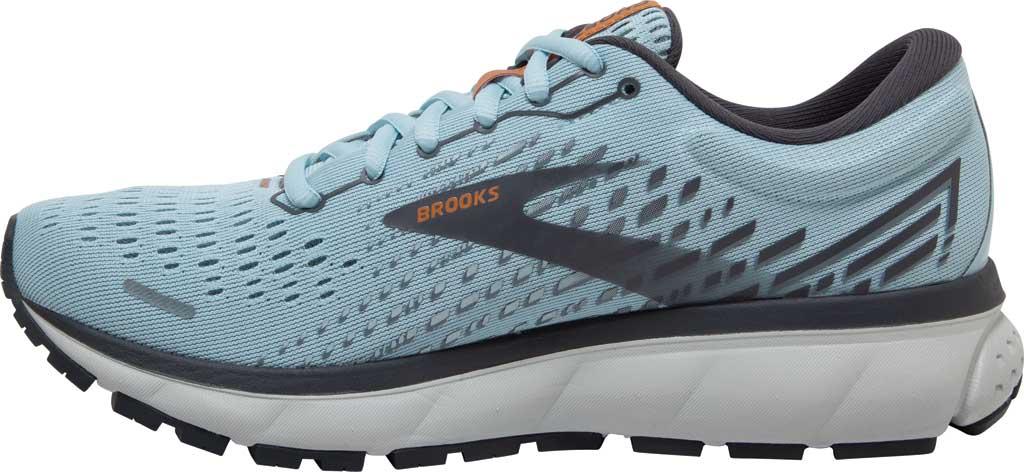 Women's Brooks Ghost 13 Running Shoe, Light Blue/Blackened Pearl/White, large, image 3