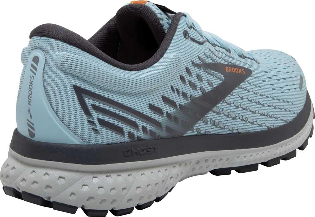 Women's Brooks Ghost 13 Running Shoe, Light Blue/Blackened Pearl/White, large, image 4