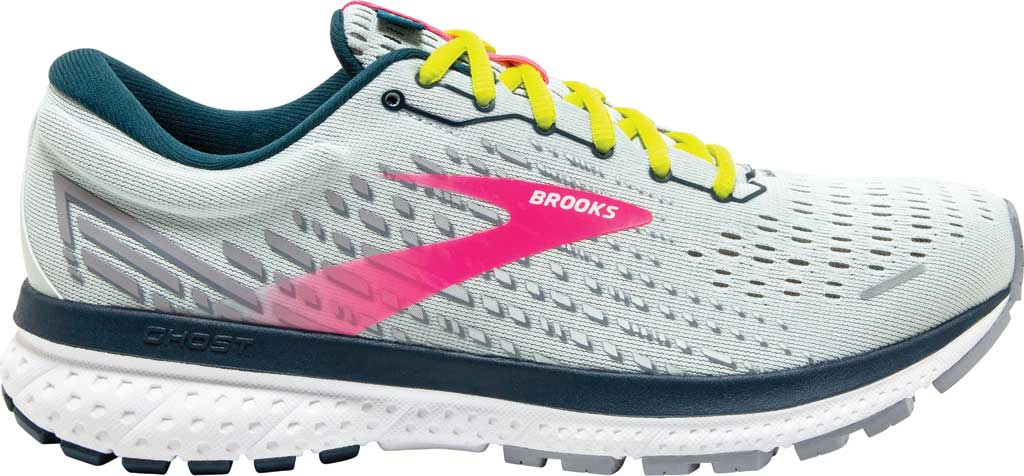 Women's Brooks Ghost 13 Running Shoe, Ice Flow/Pink/Pond, large, image 2