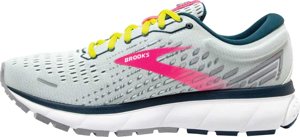Women's Brooks Ghost 13 Running Shoe, Ice Flow/Pink/Pond, large, image 3