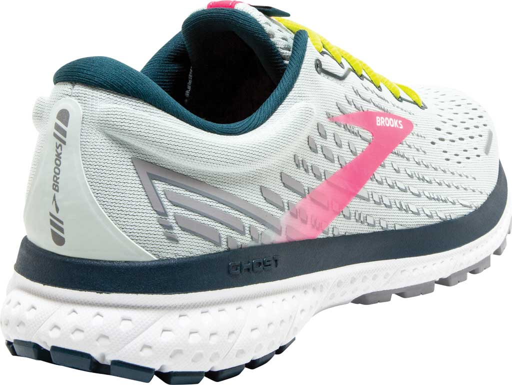 Women's Brooks Ghost 13 Running Shoe, Ice Flow/Pink/Pond, large, image 4