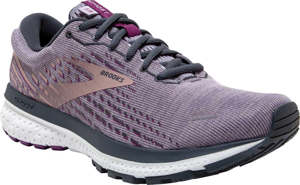 Women's Brooks Ghost 13 Running Shoe, Lavender/Ombre/Metallic, large, image 1