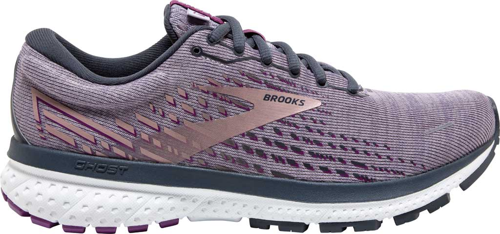Women's Brooks Ghost 13 Running Shoe, Lavender/Ombre/Metallic, large, image 2