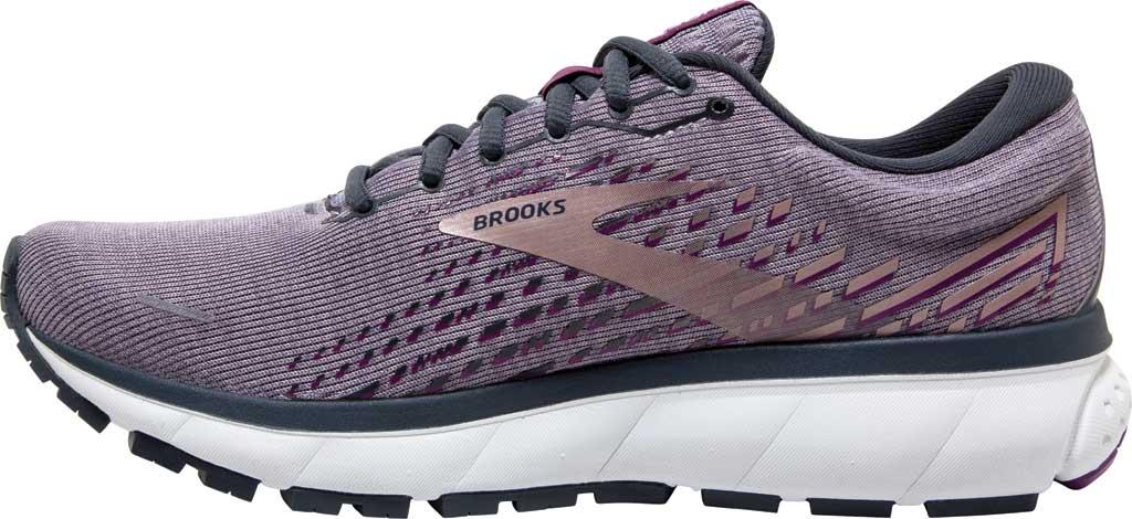 Women's Brooks Ghost 13 Running Shoe, Lavender/Ombre/Metallic, large, image 3