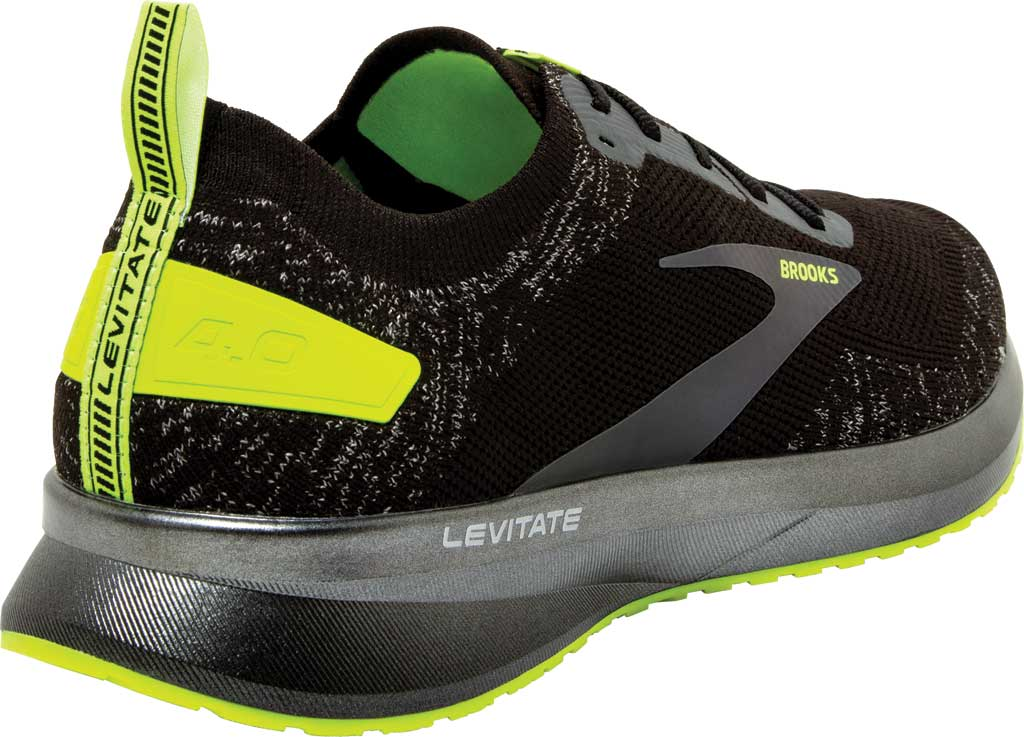 Women's Brooks Levitate 4 Running Shoe, Black/Nightlife, large, image 4