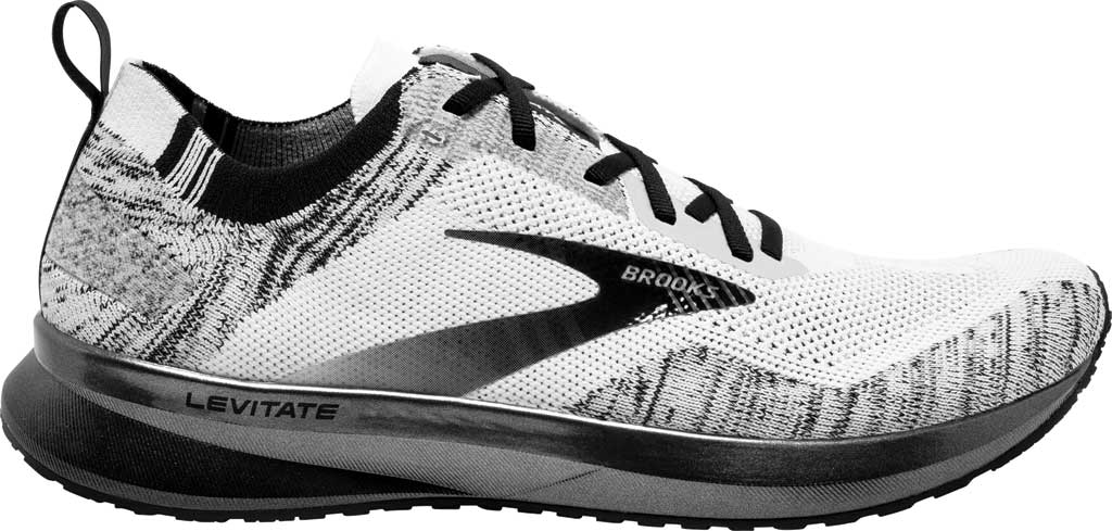 Women's Brooks Levitate 4 Running Shoe, White/Black, large, image 2