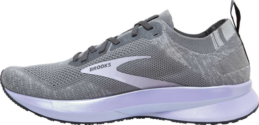 Women's Brooks Levitate 4 Running Shoe, Grey/Blackened Pearl/Purple, large, image 3