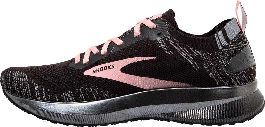 Women's Brooks Levitate 4 Running Shoe, Black/Grey/Coral Cloud, large, image 3