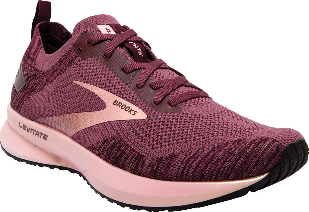Women's Brooks Levitate 4 Running Shoe, Nocturne/Coral/Zinfandel, large, image 1