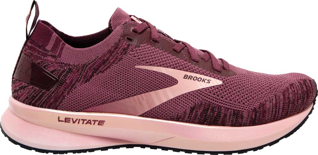 Women's Brooks Levitate 4 Running Shoe, Nocturne/Coral/Zinfandel, large, image 2
