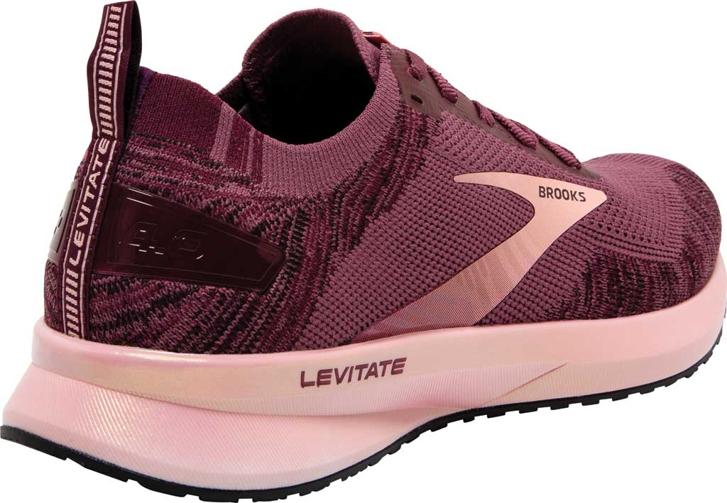 Women's Brooks Levitate 4 Running Shoe, Nocturne/Coral/Zinfandel, large, image 4