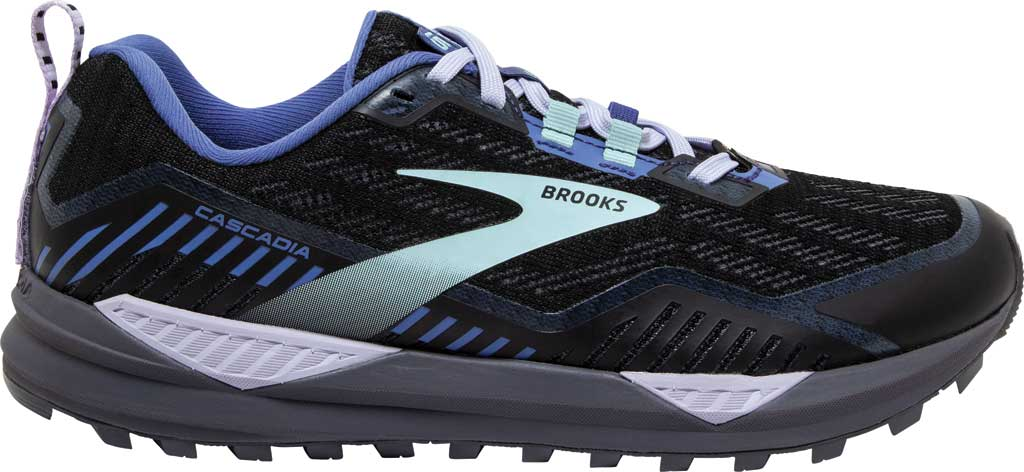 Women's Brooks Cascadia GORE-TEX 15 Trail Running Sneaker, Black/Marlin/Blue, large, image 2