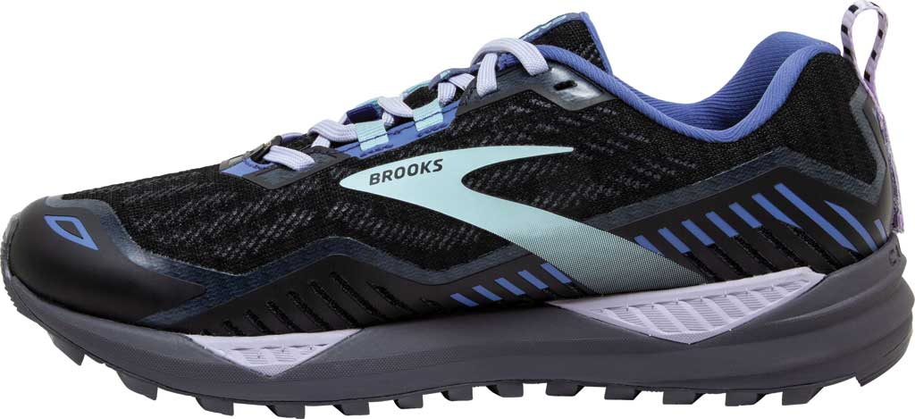 Women's Brooks Cascadia GORE-TEX 15 Trail Running Sneaker, Black/Marlin/Blue, large, image 3